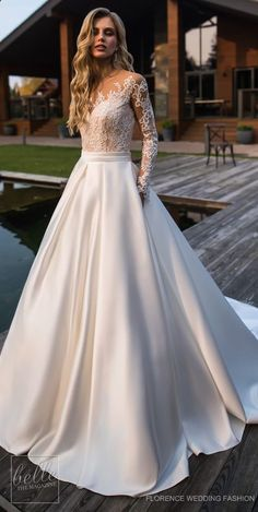 Wedding Dress by Florence Wedding Fashion 2019 Despacito Bridal Collection . Wedding Dress by Florence Wedding Fashion 2019 Despacito Bridal Collection dress Ball Dresses, Dresses With Sleeves, Dresses Dresses, Evening Dresses, Lace Sleeves, Dress Outfits, Lace Ball Gowns, Ceremony Dresses, Casual Dresses