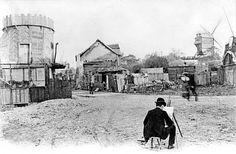 Un peintre a Montmartre au debut du 20e siecle --- a painter working in Montmartre, early 20th century