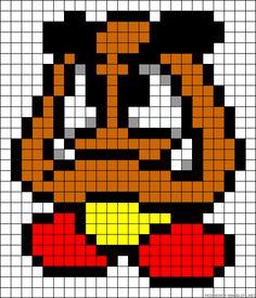 Goomba Super Mario perler bead pattern