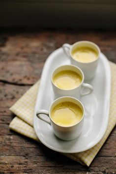 {Pots de crème, made extra tasty with liquor and olive oil!} Olive Oil & Vanilla Pots de Crème | FamilyStyle Food