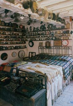 Collecting & Displaying Collections Of Clocks Okay, no excuse for oversleeping in this room!
