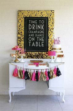 So Fun! Pink + Gold! I want my bridal party to be like this! love it
