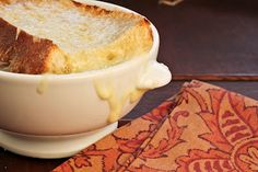 Cheese-Topped Onion Soup~ - That Skinny Chick Can Bake