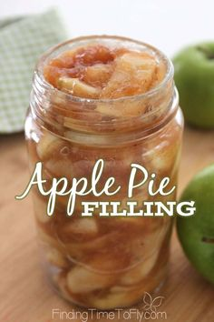 Homemade Apple Pie Filling I never thought of making Homemade Apple Pie filling ahead of time before. What a great idea!<br> Make this Homemade Apple Pie Filling ahead of time and whip up a delicious dessert in no time. Homemade Apple Pie Filling, Apple Filling, Homemade Pie, Filling Recipe, Apple Pie Recipes, Apple Desserts, Apple Pie Recipe Easy, Sweet Recipes, Yummy Recipes