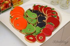 Hungry Caterpillar cookies Raupe Nimmersatt Cookies