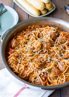 You know how much I love to take comfort food classics and turn them up a notch? Well, this One Pot Spaghetti and Meatballs is exactly that! Everything gets cooked in one pan - pasta, sauce and meatballs! It doesn't get much easier than this! I know, I know... spaghetti and meatballs? How many ways do you need to know how to make it, right? Well, this dish actually came to me out of necessity. Over the summer we spent over 3 weeks on the road in our tiny travel trailer, with a tiny little...