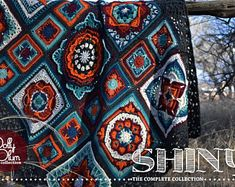 Shiny Crochet Afghan Block Collection - by Polly Plum Afghan Crochet Patterns, Baby Patterns, Stitch Patterns, Blanket Patterns, Crochet Bridesmaids Dresses, Aran Weight Yarn, Metallic Yarn, Writing Styles, Lion Brand