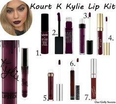 Dupes Kourt K Kylie Lip Kit