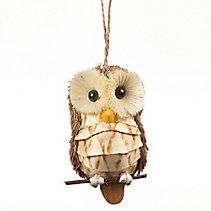 CANVAS Red Sisal Owl Ornament