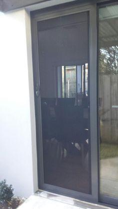 Aluminium Frame Sliding Security Screen Door With Stainless Steel Mesh,  Installed In Hampton.