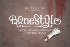 Bonestyle is like a bone font display for Halloween and of course the font can still be creative in a wide variety of display needs, suitable for display.