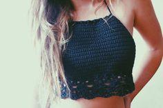 Hand Crocheted Gypsy Classic Cotton Halter Top by JayblueHandmade Top Crop Tejido En Crochet, Crochet Blouse, Crochet Clothes, Diy Clothes, Hand Crochet, Knit Crochet, Top Dos Nu, Bikini Crochet, Crochet Summer Tops