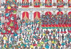 Where's Wally Hidden Pictures, Funny Pictures, Lynx, Ou Est Charlie, Wheres Wally, Maze, Art For Kids, Panda, City Photo