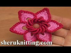 Here crochet 3D 6-petal flower, gorgeous flower to crochet, Irish crochet flower, crochet double layered flower, beautiful flower to crochet, crochet flower ...