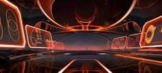 Tron Artist #Josephholt Robot Illustration, Futuristic Interior, Environment Concept, Future City, Environmental Art, Underworld, Art Direction, Concept Art, Sci Fi