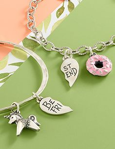 It's a great time to buy matching charms with your BFF! Now through June 4, buy two charms and receive a charm necklace or bracelet FREE (up to $72 value, while supplies last).