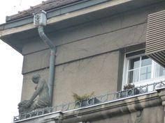 Statue on a balcony, Zagreb