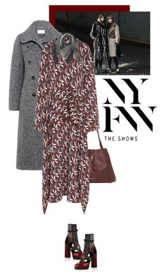 """""""NYFW Street Style: Day One"""" by fashionmonkey1 ❤ liked on Polyvore featuring Carven, Burberry, Tak.Ori, StreetStyle, NYFW and LuxuryFashion"""