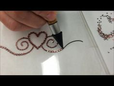 Tambour Embroidery - Basic Stitch - YouTube