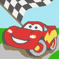 Cars Afghan Blanket Graph CROCHET PATTERN  $4.50 @Melissa Squires Squires Squires Brown. Please momma make this for me!!!