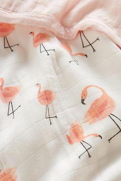 Flamingo Frolic Toddler Quilt - anthropologie.com
