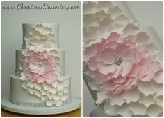 Ombre Flower Cake