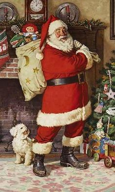 holiday, christmas time, santa clause, traditional christmas, vintage santas, father christmas, big bags, santaclaus, vintage cards