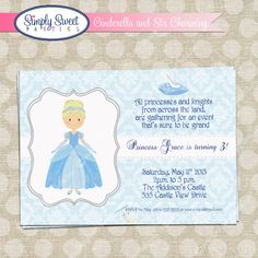 Cinderella Princess Birthday Party PDF file by SimplySweetParties, $12.00