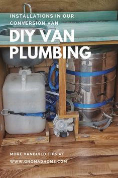 Installing plumbing in a DIY campervan. Van Conversion Plumbing, Van Conversion Floor, Cargo Van Conversion, Cargo Trailer Camper Conversion, Diy Van Conversions, Van Conversion Interior, Camper Van Conversion Diy, Diy Van Camper, Camper Van Kitchen