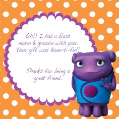 HOME MOVIE Birthday Party,  HOME Movie Printables, Home Movie Party Pack, Home Movie Thank You Card, Boov Theme Party, Oh Home Movie by GiggleBeanParties on Etsy