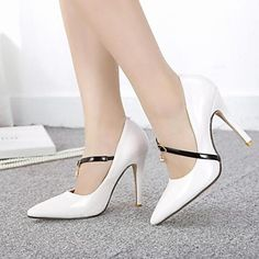 Women's Shoes Pointed Toe Stiletto Heel  Pumps with Buckle Shoes More Colors available – USD $ 27.99