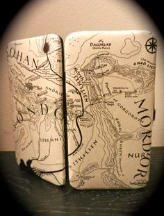 Lord of the Rings Book Page Wallet with Map of Middle Earth by TheNerdBoutique, $30.00