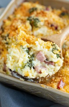 Ham Casserole with Broccoli and Rice. Ham Casserole with Broccoli and Rice Recipes This Ham Casserole is loaded with cheesy, creamy rice and perfectly cooked broccoli. This easy make-ahead dinner can . Ham And Rice Casserole, Easy Casserole Recipes, Casserole Dishes, Broccoli Casserole, Leftover Ham Casserole, Leftover Rice, Leftover Ham Recipes, Leftovers Recipes, Recipes With Diced Ham