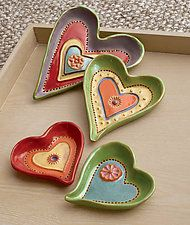 """Heart Dishes by Laurie Pollpeter Eskenazi (Ceramic Dish) (0.5"""" x 4"""")"""