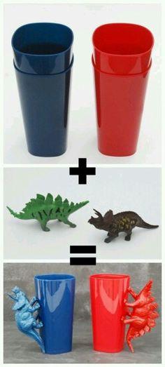Diy dino cups