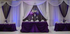 purple and white backdrop