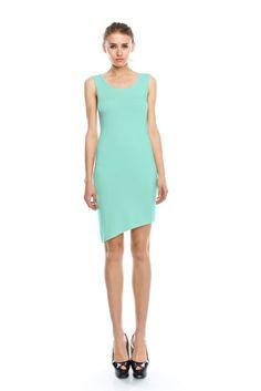 ** NEW *** Color- Mint  #sheathdress #minidress #asymetric #sheath dresses  #dress  #sleeveless #shiftdresses  #midi dresses  #crepe sheath #mini dress