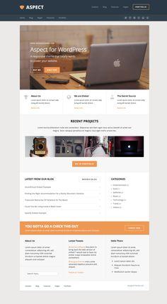Aspect, a Responsive WordPress Theme by DesignerThemes.com on Creative Market