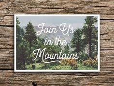 Hey, I found this really awesome Etsy listing at https://www.etsy.com/listing/478715852/in-the-mountains-save-the-date-postcard