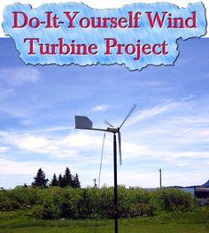 Do-It-Yourself Wind Turbine Project  Read HERE --- > http://www.livinggreenandfrugally.com/wind-turbine-project/