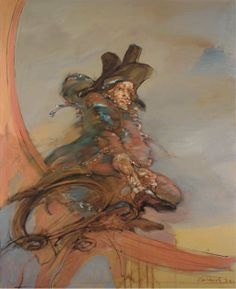 CLAUDE WEISBUCH - Etude pour le 9 Thermidor, 1972, huile sur toile, 162 x 130 cm.