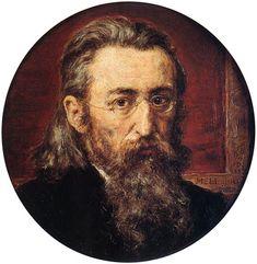 Auto-retrato do pintor polonês Jan Matejko, em 1887. Óleo, sobre placa de mogno. Encontrado no Museu Nacional em Cracóvia, Jan Matejko House.