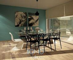 Diseño de área de comedor: Comedores de estilo moderno por Zono Interieur