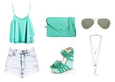 """""""10."""" by amina-haskic ❤ liked on Polyvore featuring ONLY and Ray-Ban"""