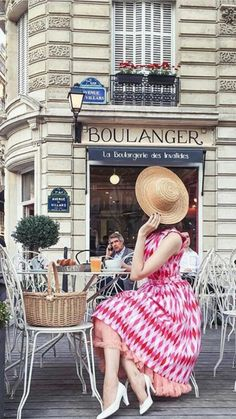 """In front of """"Boulangerie"""" Sign (Boulangerie De San Francisco) Check out the best place to celebrate your bachelorette party or birthday party or girls night out in San Francisco."""