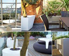 #white powder coated #planters by mylandscapes London UK