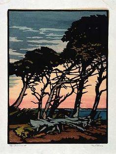 "William Seltzer Rice (1873-1963) - The Procession. Circa 1920. 12-1/2"" x 9-3/8""."