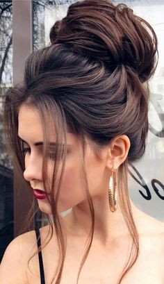 53 Latest Casual Hairstyles for 2019 – Get Your Inspiration TODAY! 53 Latest Casual Hairstyles for 2019 – Get Your Inspiration TODAY!, Latest Casual Hairstyles Everyone knows that to create a perfect image it is necessary not only to choose the right clot Easy Bun Hairstyles For Long Hair, Casual Hairstyles, Elegant Hairstyles, Wedding Hairstyles, Updo Hairstyle, Black Hairstyle, Hairstyle Ideas, Bun Updo, Hairstyles Haircuts