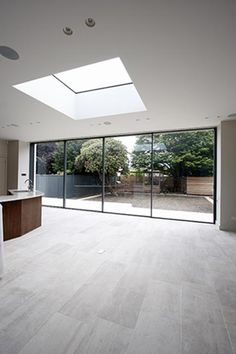 Super Ideas For Bifold Door Garden Roof Light Roof Design, Küchen Design, House Design, Sliding Patio Doors, Sliding Glass Door, House Extension Design, Open Plan Kitchen Living Room, Roof Lantern, Roof Light