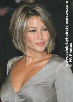 Inverted Bob Hairstyle | Inverted Short Bob Hairstyle Chin length inverted short bob, dark ...
